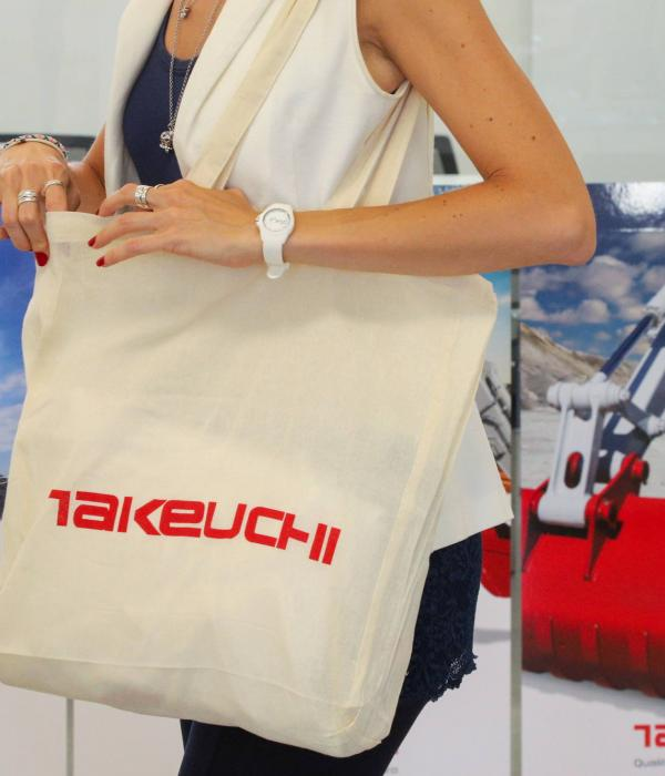 Borsa shopper Takeuchi in cotone naturale