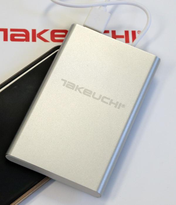 Power bank Takeuchi silver